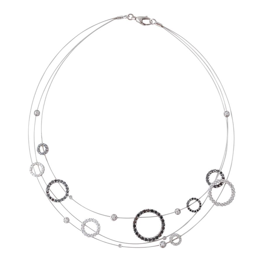 ゼブラの輪 首飾り(1)