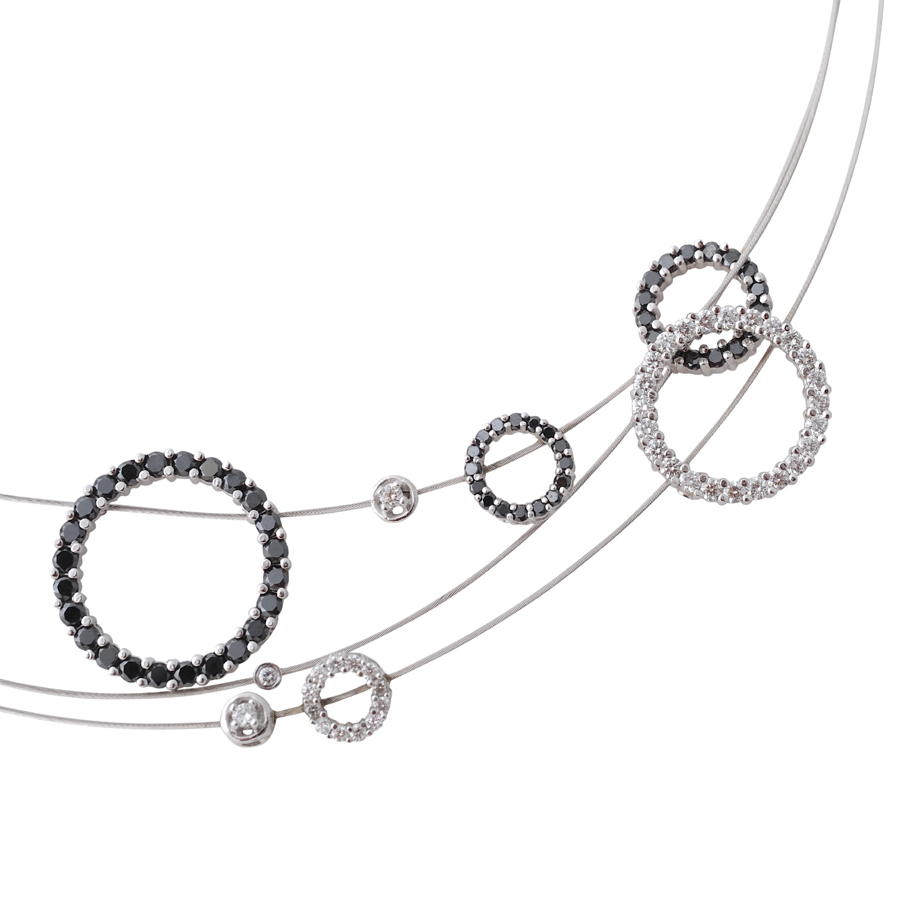 ゼブラの輪 首飾り(3)