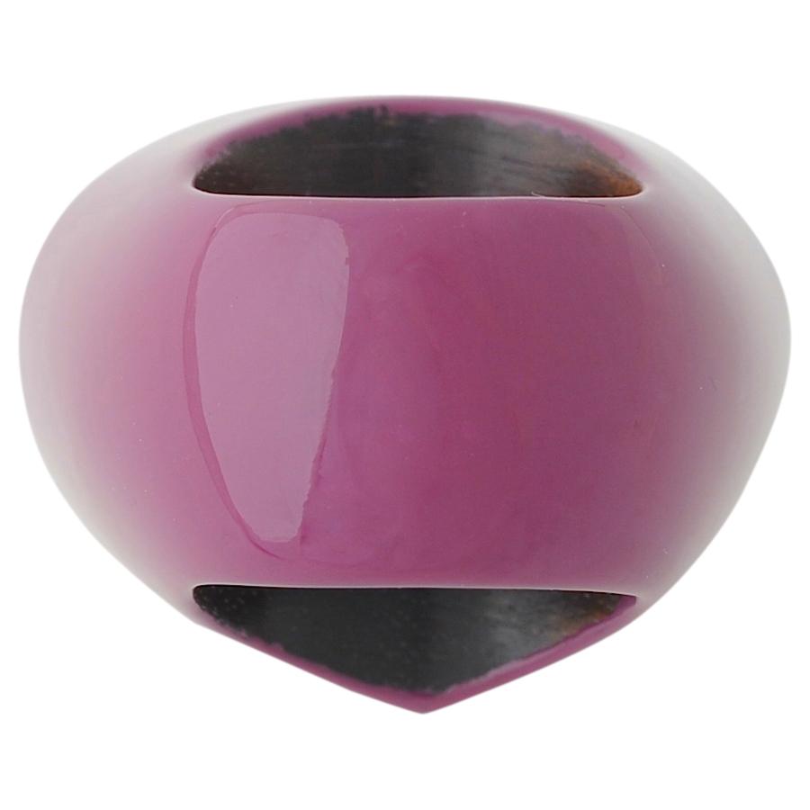 深紫漆リング カルセドニー(4)