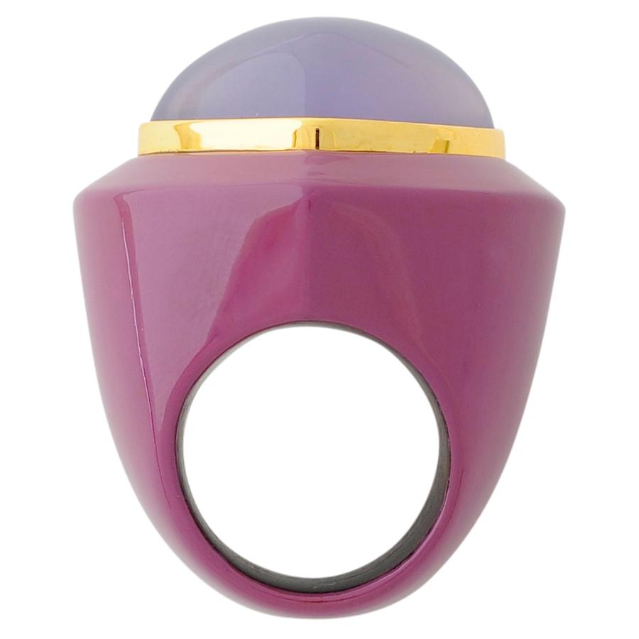 深紫漆リング カルセドニー(3)