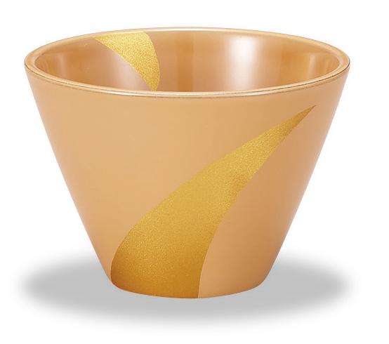 白漆フリーカップ 露草蒔絵(1)
