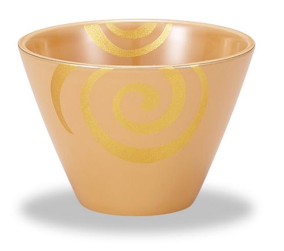白漆フリーカップ 渦蒔絵(1)